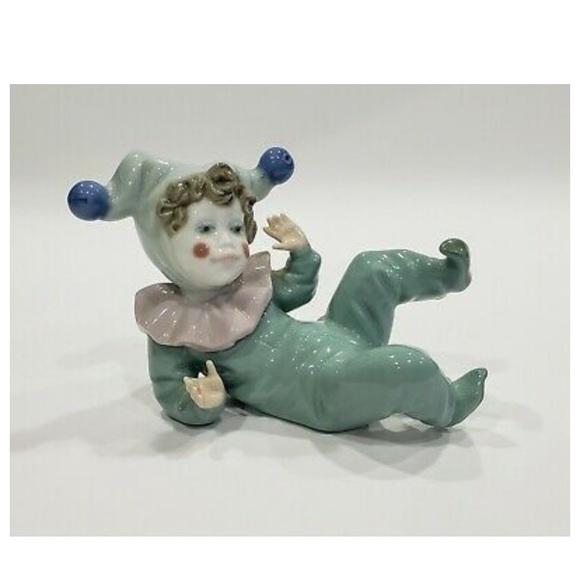 Vintage Lladro Jester Clown Figurine